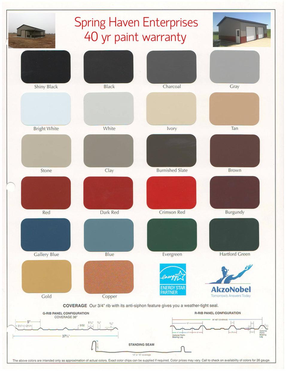 Metal Roof Color Chart Heartpulsar